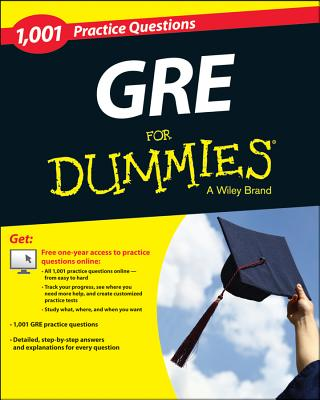 1,001 Gre Practice Questions for Dummies + Free Online Practice Tests By Woldoff, Ron